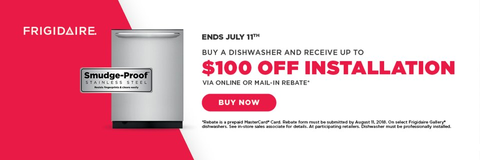 Frigidaire $100 Dishwasher Install June 2018