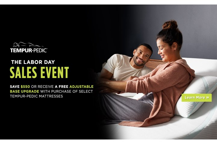 Tempur-Pedic Labor Day 2018