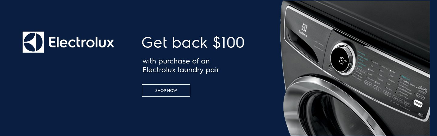 Electrolux $100 Laundry Rebate Oct 2019