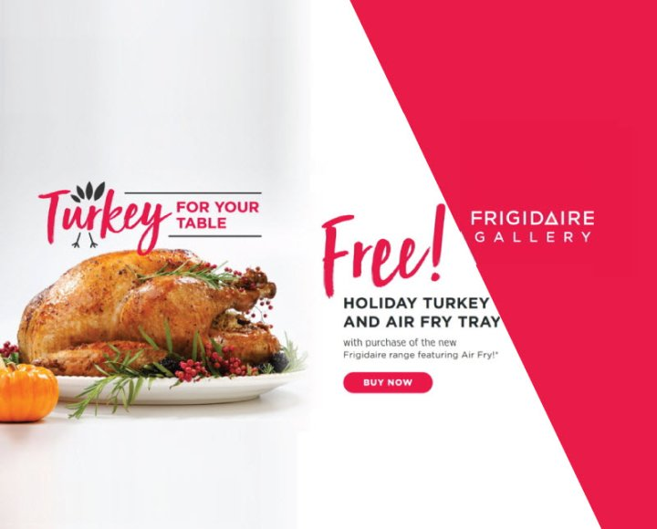 Frigidaire Turkey for your Table Nov 2019