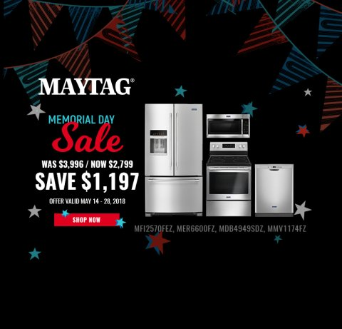 Maytag NECO Exclusive Memorial Day 2018