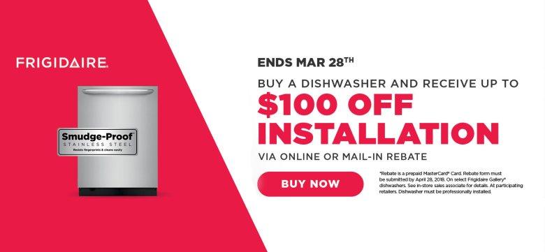 Frigidaire $100 Dishwasher Install March 2018