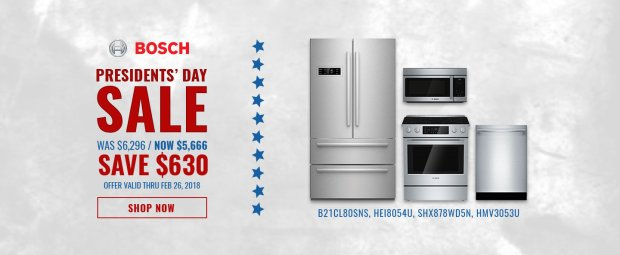 Bosch NECO Exclusive Presidents Day 2018