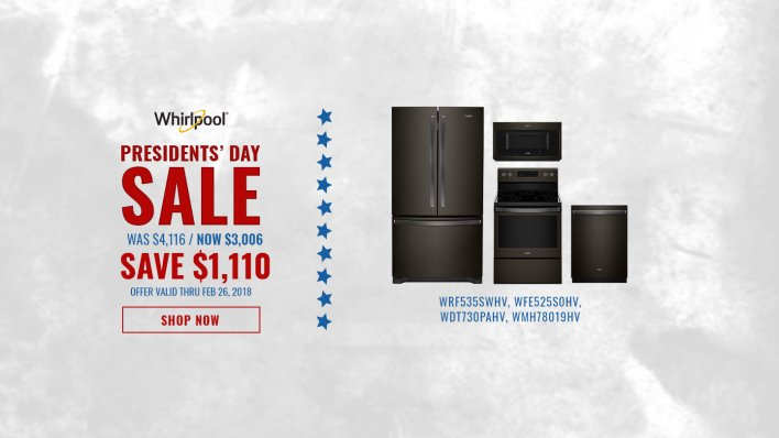 Whirlpool NECO Exclusive Presidents Day 2018
