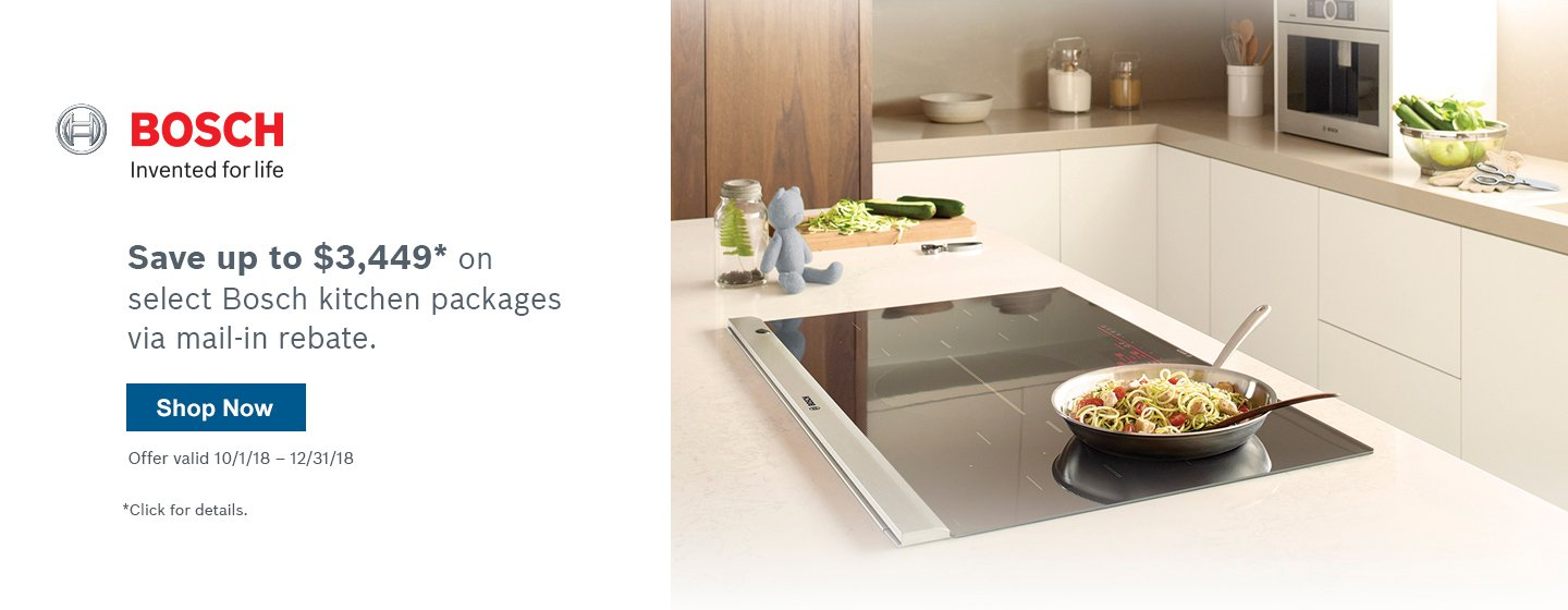 Bosch Benchmark Kitchen Suite Rebate 2018 Q4