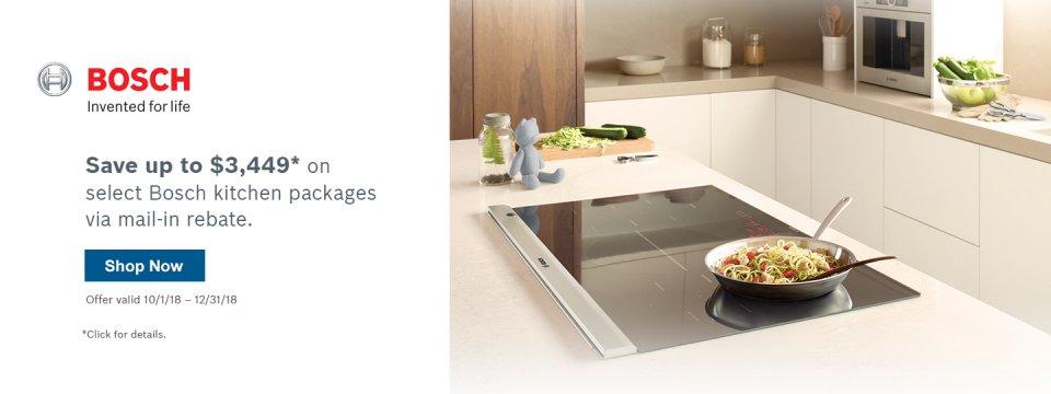 Bosch Benchmark Kitchen Suite Rebate 2018 Q4