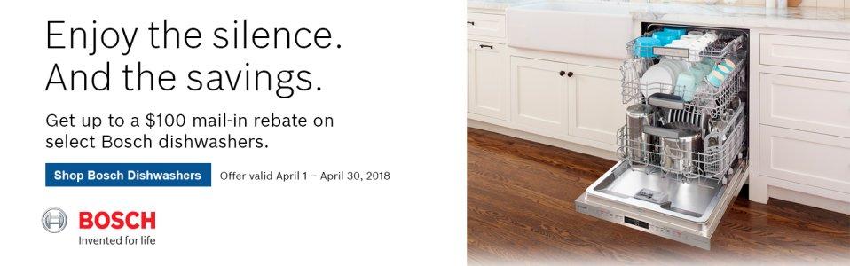 Bosch Dishwasher Rebate April 2018
