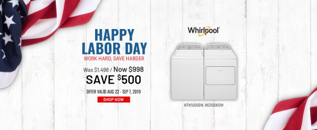 Whirlpool NEAEG Labor Day 2019