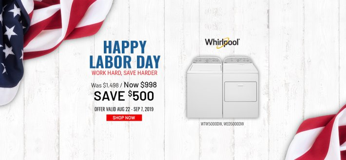 Whirlpool NEAEG Labor Day 2019