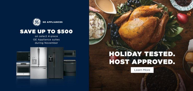 GE Save up to $500 Nov 2018
