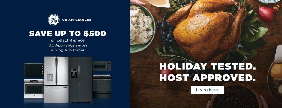 GE Save up to $500 Nov 2018