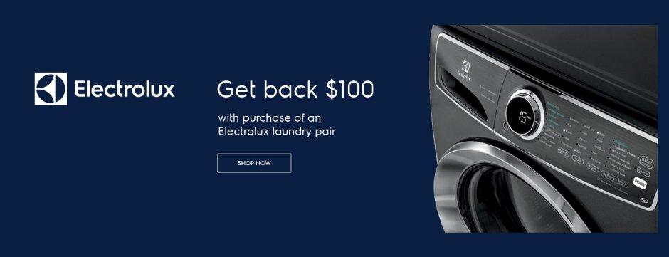 Electrolux $100 Laundry Rebate June 2019