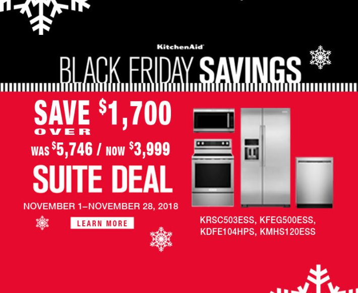 KitchenAid ADC & DMI Exclusive Black Friday 2018