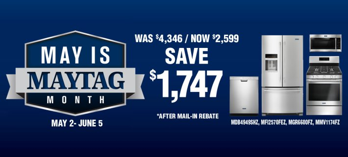 ADC & DMI May is Maytag Month 2019
