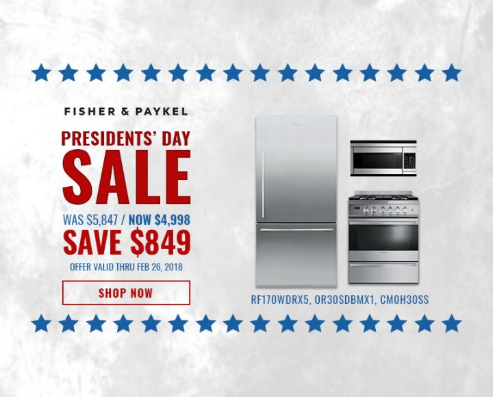 Fisher & Paykel NECO Exclusive Presidents Day 2018