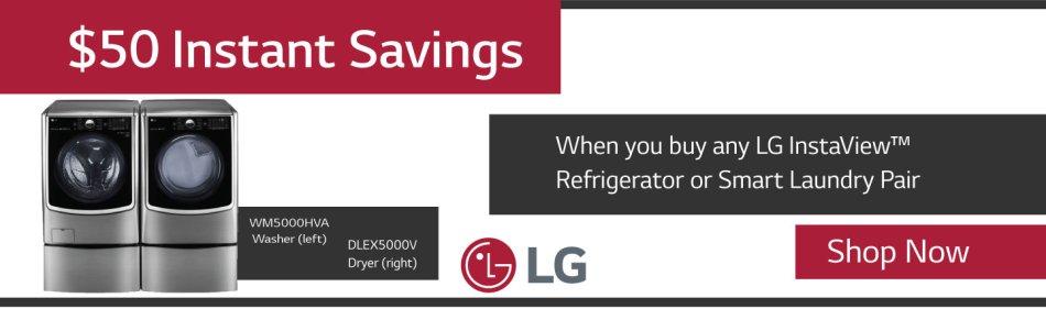 LG $50 Instant Rebate July 2018
