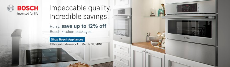 Bosch Kitchen Suite Rebate 2018 Q1