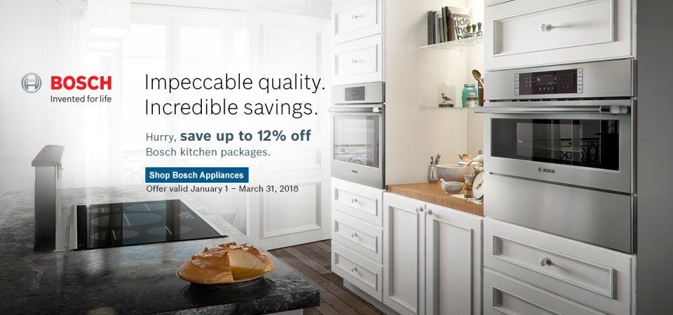 Bosch Kitchen Suite Rebate 2018 Q1
