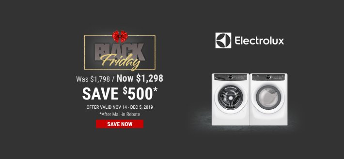 Electrolux & Frigidaire NEAEG Black Friday 2019