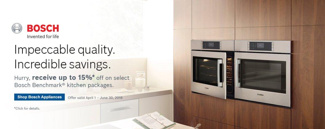Bosch Benchmark Kitchen Suite Rebate 2018 Q2