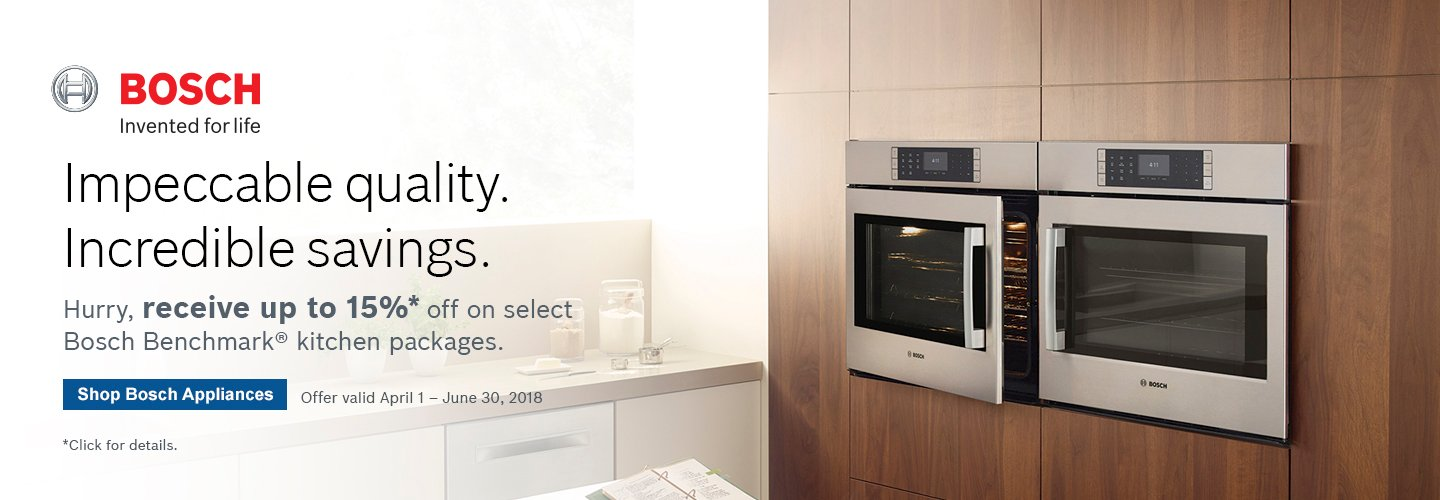 Bosch Benchmark Kitchen Suite Rebate 2018 Q2