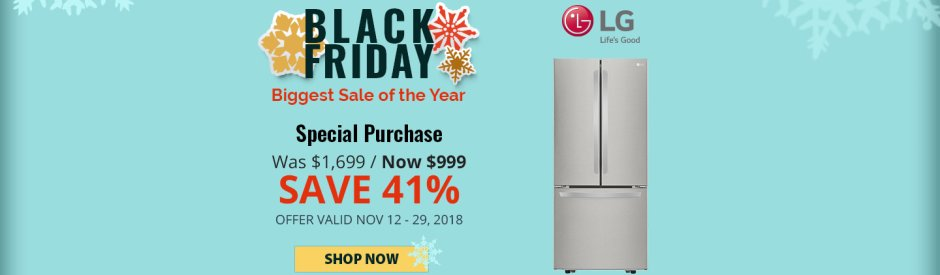 LG NECO Exclusive Black Friday 2018