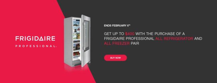 Frigidaire Professional Refrigerator + Freezer Rebate 2019