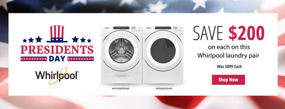 Whirlpool Presidents Day NEAEG Exclusive 2019