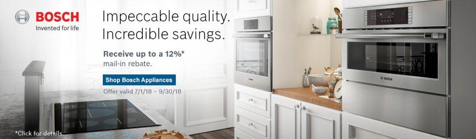 Bosch Kitchen Suite Rebate 2018 Q3
