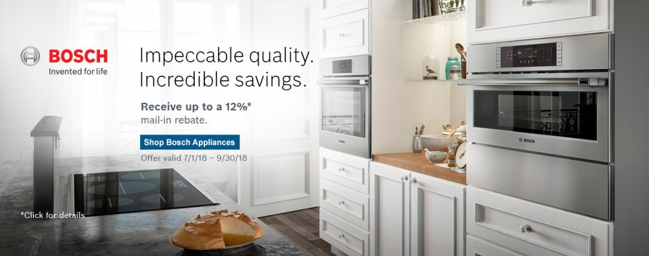 Bosch Kitchen Suite Rebate 2018 Q3
