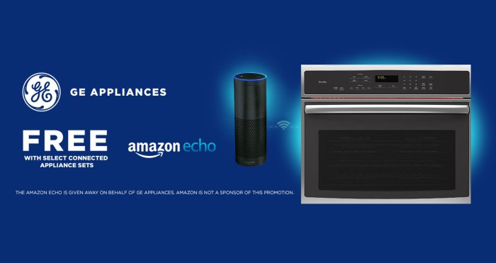 GE Free Amazon Echo 2017. Furniture  Mattresses  Appliances  and Electronics in Mc Allen