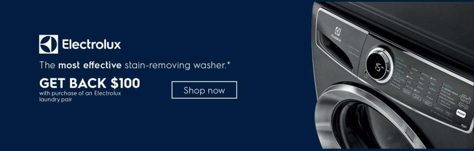 Electrolux $100 Laundry Rebate January 2019