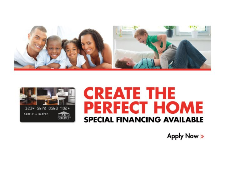 BrandSource Financing Landing Page