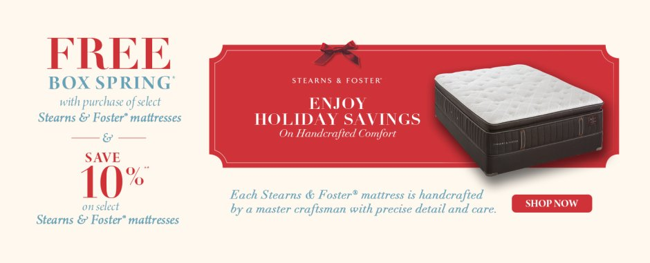 Stearns & Foster Post Holiday Event 2018