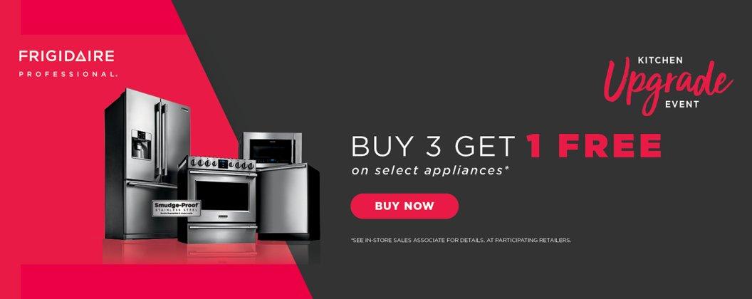 Frigidaire Professional Buy 3, Get 1 August 2018