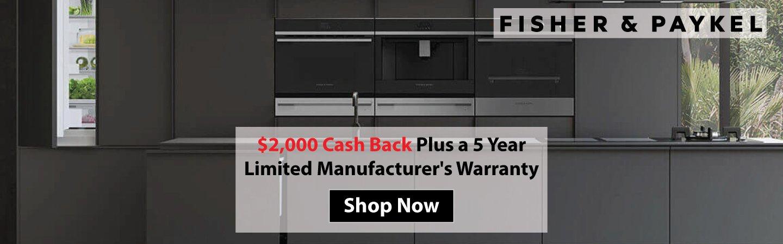 Fisher & Paykel Cash Back / Warranty 2019