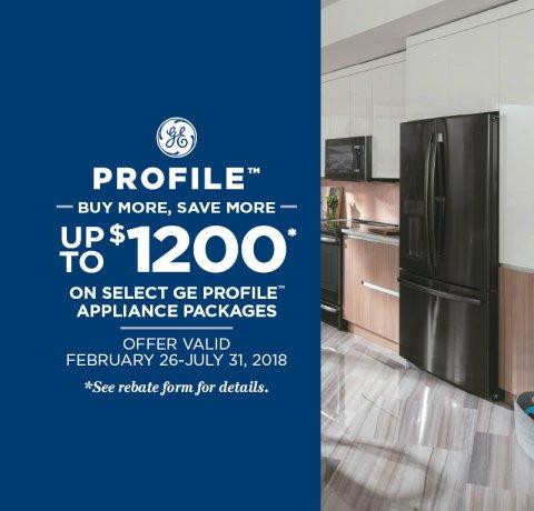GE Profile Buy More Save More 2018