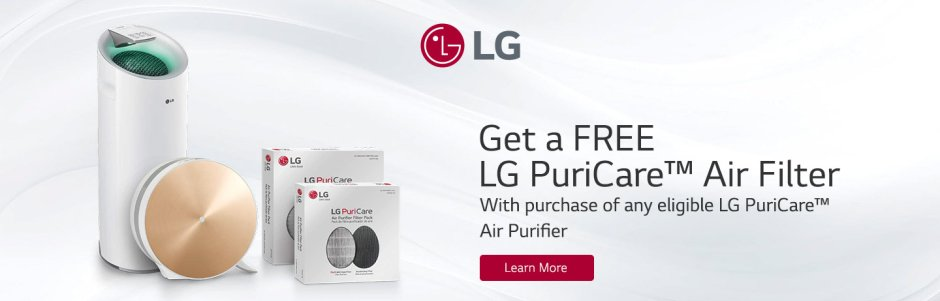 LG PuriCare Filter Offer 2018