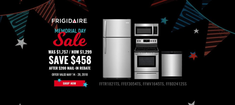 Frigidaire NECO Exclusive Memorial Day 2018