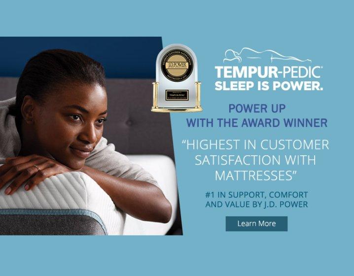 Tempur-Pedic JD Power Awards 2018