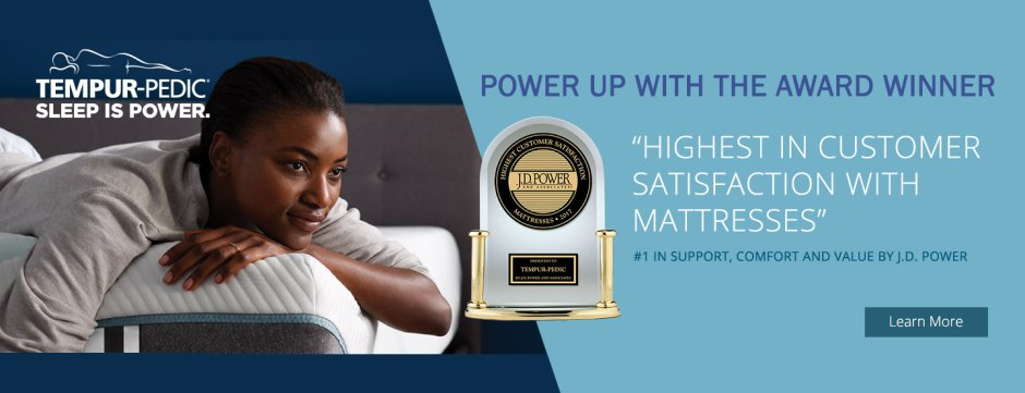 Tempur-Pedic JD Power Awards 2018