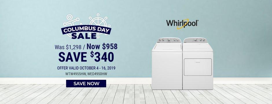 Whirlpool NEAEG Columbus Day 2019