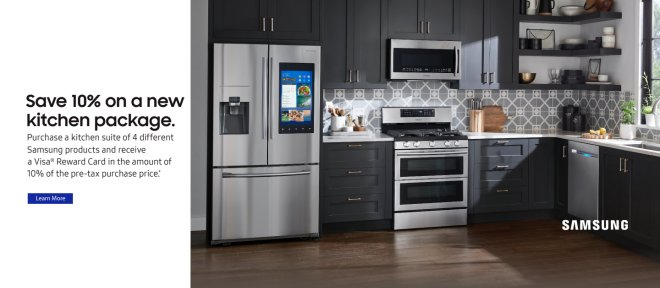 Samsung 10% off Kitchen Package 2018