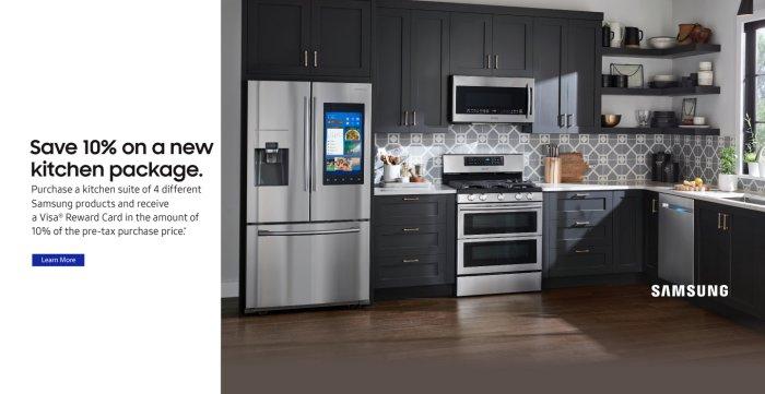 Samsung 10% off Kitchen Package 2018