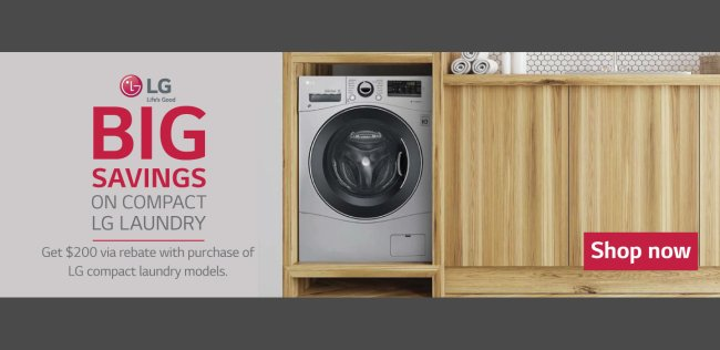 LG Compact Laundry Offer 2018