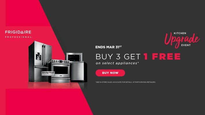 Frigidaire Professional Buy 3, Get 1 Feb 2018