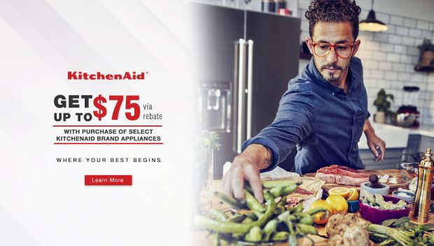 KitchenAid Up to $75 Q1 2018