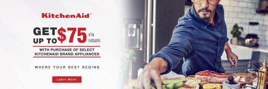 KitchenAid Up to $75 Q1 2018