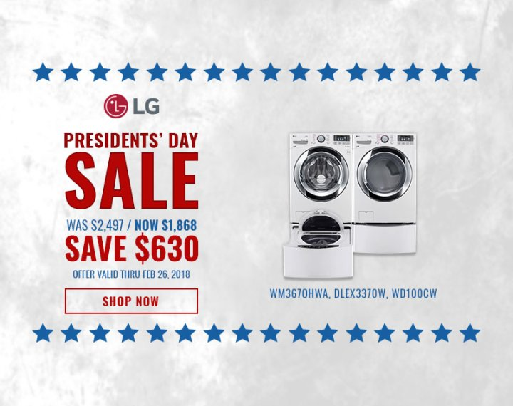 LG NECO Exclusive Presidents Day 2018