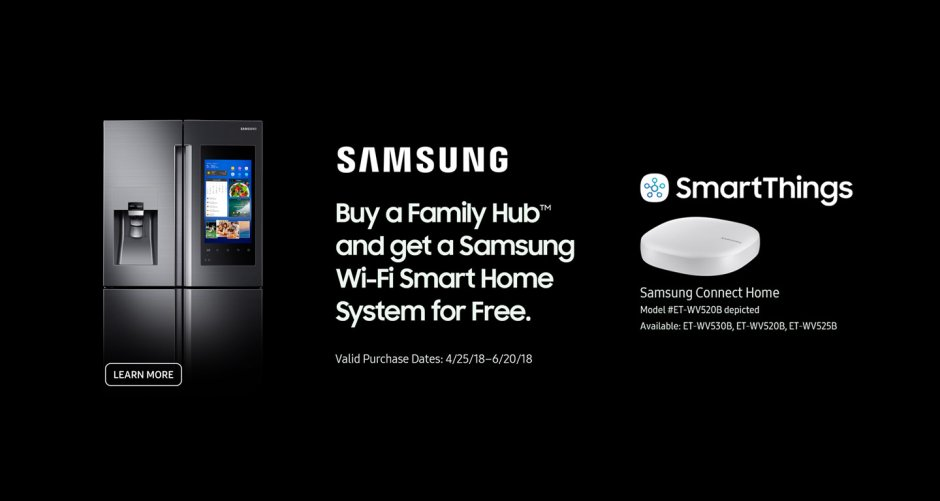 Samsung Free WiFi Smart Home 2018